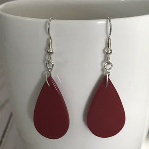 Jewelry - Red Teardrop Dangle Earrings